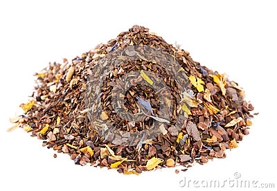 Coffee-like, caffeine-infused mate and red rooibos