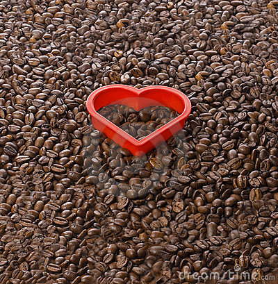 Free Coffee Love Shape Heart Beans Royalty Free Stock Photography - 23350327
