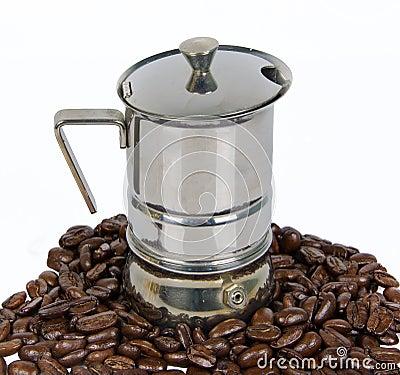 Coffee-machine with coffee-bean