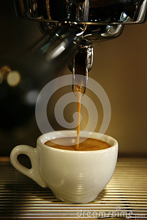 Free Coffee Machine Filling Cup Royalty Free Stock Image - 24890996