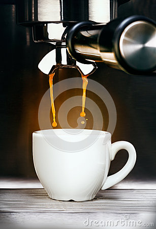 Free Coffee Machine Pouring Espresso Coffee Stock Photos - 27520403