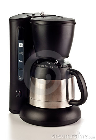 Free Coffee Maker On White Royalty Free Stock Image - 21280846