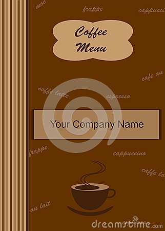 Coffee Menu Cover