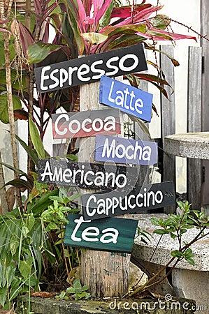 Free Coffee Menu Tab Color Garden Royalty Free Stock Photo - 19999195