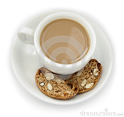 Coffee Cup & Biscotti