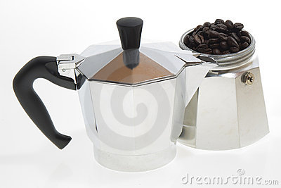 Coffee Moka on white