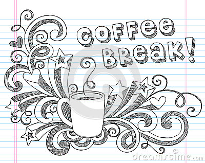 Coffee Mug Doodles Vector Illustration