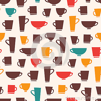 Free Coffee Mug Pattern Royalty Free Stock Photography - 32536087