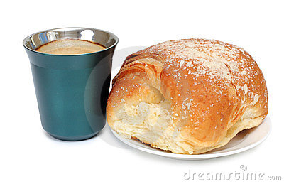 Coffee mug and sweet pastries