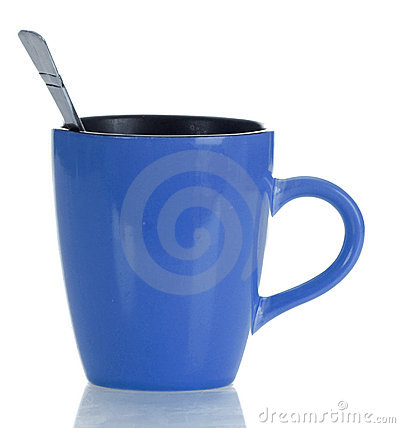 Free Coffee Mug With Spoon Royalty Free Stock Images - 11906669