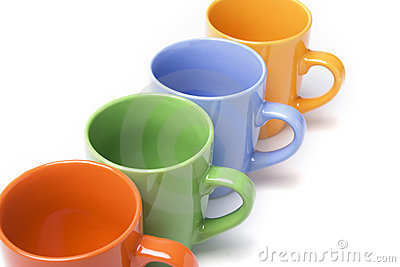 Coffee mugs line