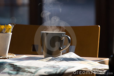 Coffee and newspapers