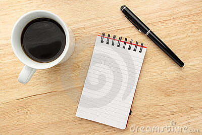 Coffee Notepad Pen