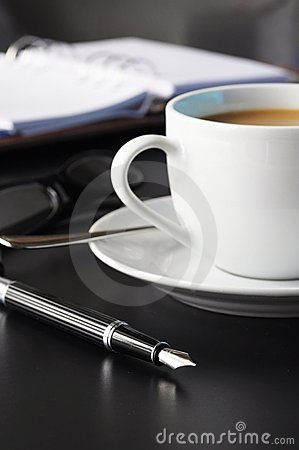 Coffee organizer on a table