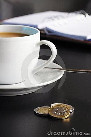 Coffee organizer on a table