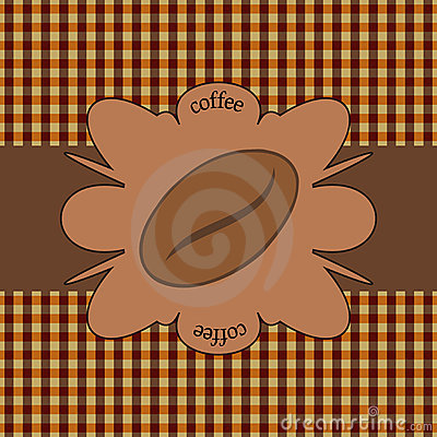 Coffee ornamental background