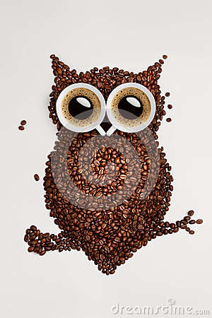 Free Coffee Owl. Stock Photos - 37034873