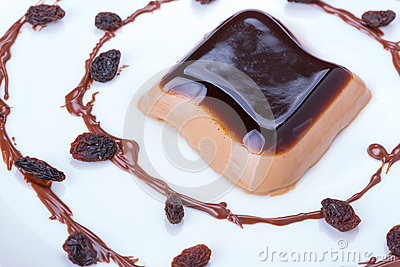 Coffee panna cotta dessert
