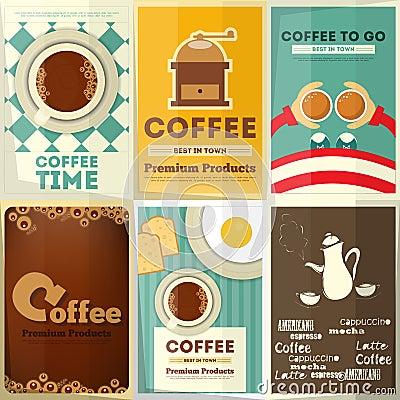 Free Coffee Posters Set Stock Photos - 49206003