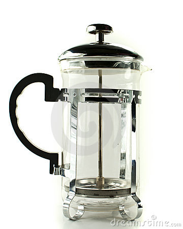Free Coffee Press (french Press) Royalty Free Stock Photography - 18646947