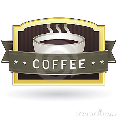 Coffee product label sticker