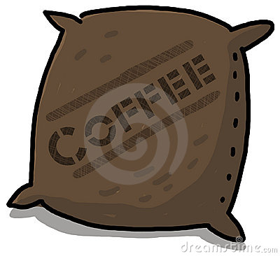 Coffee sack illustration