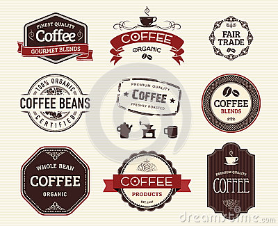 Coffee seals and stamps