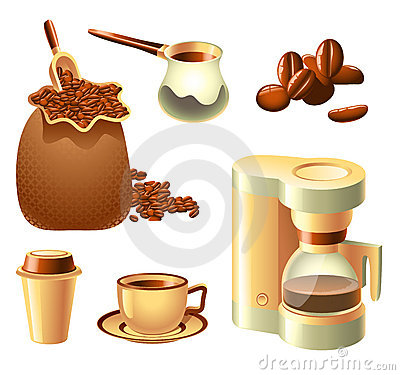 Free Coffee Set Royalty Free Stock Photography - 17649317