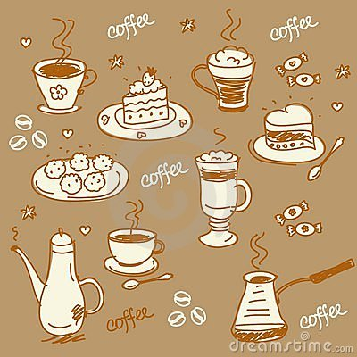 Free Coffee Set Stock Photography - 17770832