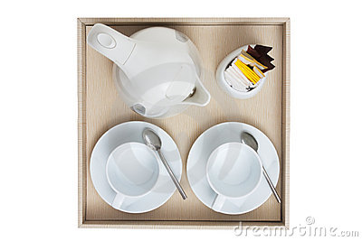 Coffee set top view