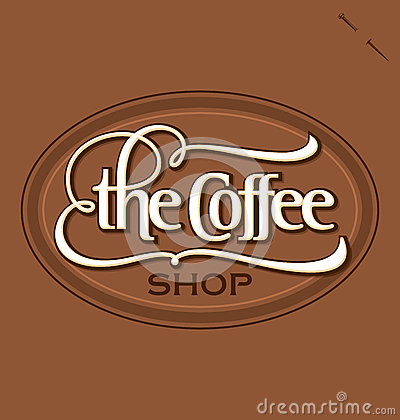 The Coffee Shop  hand lettering (vector)