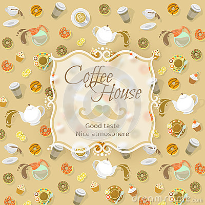 Free Coffee Shop Label On Food And Drink Background Stock Photo - 52619510