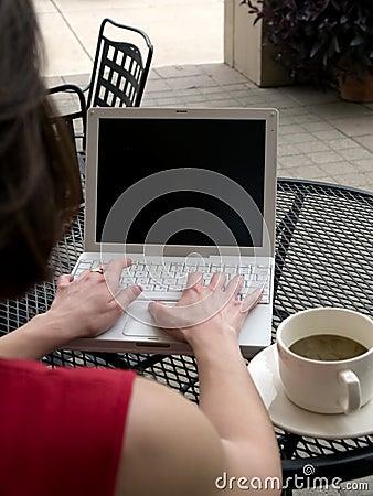 Free Coffee Shop Wifi Laptop Royalty Free Stock Photos - 718248