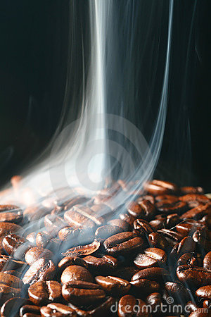 Coffee in smoke