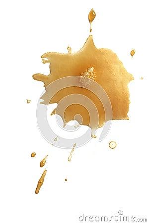 Coffee Splash on White Background