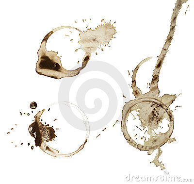 Coffee stains set isolated on white