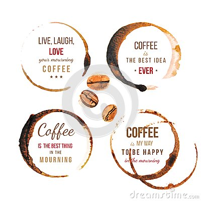 Free Coffee Stains With Type Royalty Free Stock Photography - 46645197