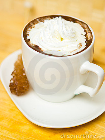 Coffee with sugar and cream