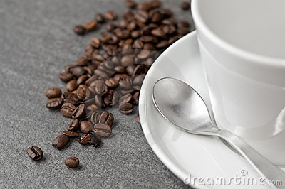 Coffee tableware with beans