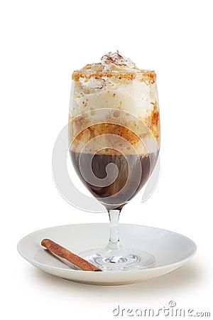 Coffee in tall glass