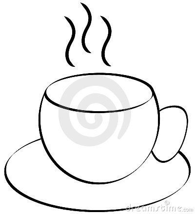 Coffee Or Tea Cup Outline Royalty Free Stock Image - Image: 4699156
