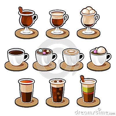 Coffee and tea cup set.