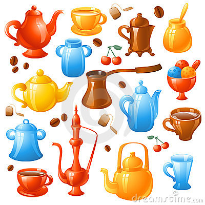 Free Coffee, Tea Set Stock Image - 21125891