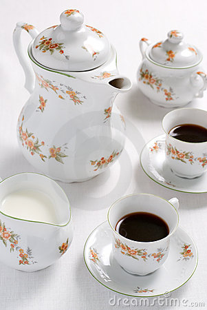 Coffee or tea set.