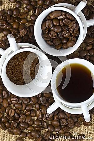 Coffee three phases