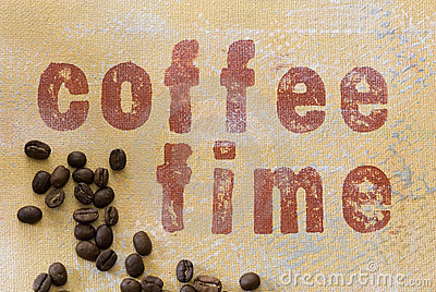 Coffee time grunge background