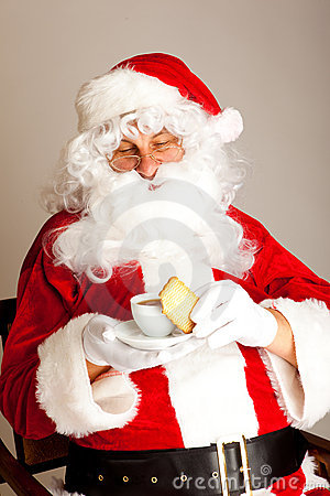 Coffee time for Santa Claus