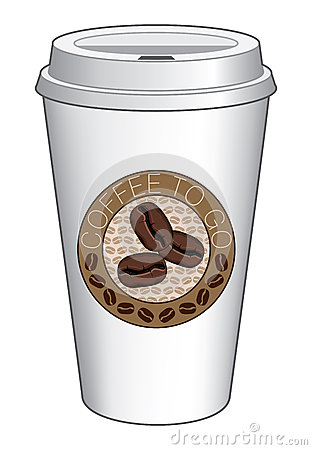 Coffee To Go Cup Design With Beans