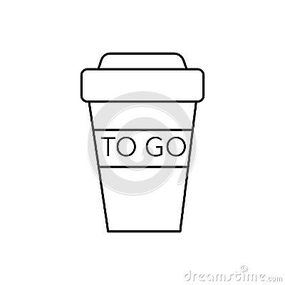 Free Coffee To Go Cup Vector Line Icon, Sign, Illustration On Background, Editable Strokes Royalty Free Stock Photography - 101055397