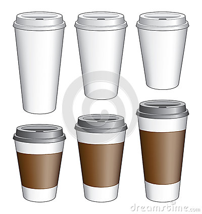 Free Coffee To Go Cups Royalty Free Stock Photography - 37082317